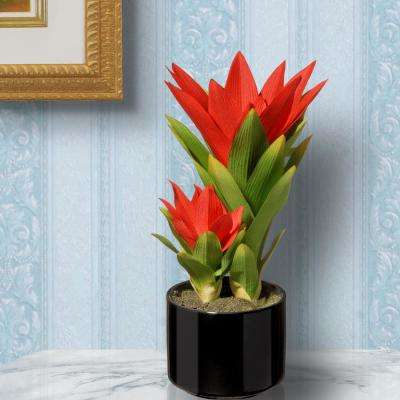 Artificial plants flowers home accents the home depot potted bromeliad plant mightylinksfo