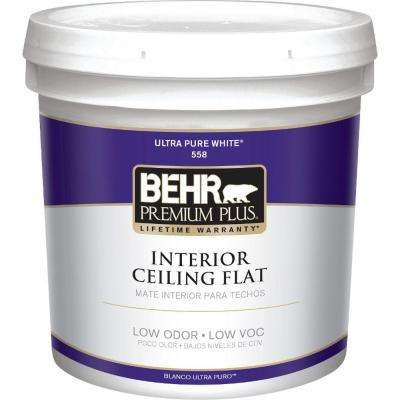 2 gal. White Flat Ceiling Interior Paint