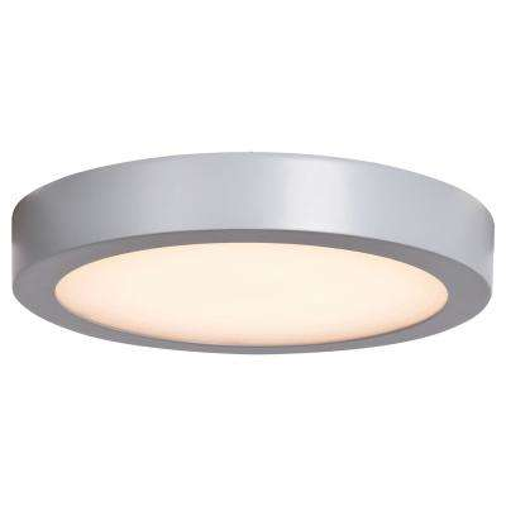 Ulko 1-Light Exterior Silver Integrated LED Outdoor Large Flush Mount
