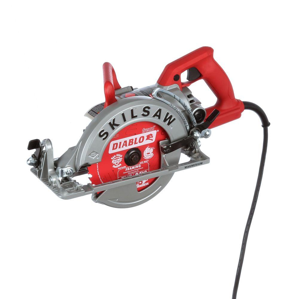 Skilsaw 15 amp corded electric 7 14 in magnesium worm drive skilsaw greentooth Image collections