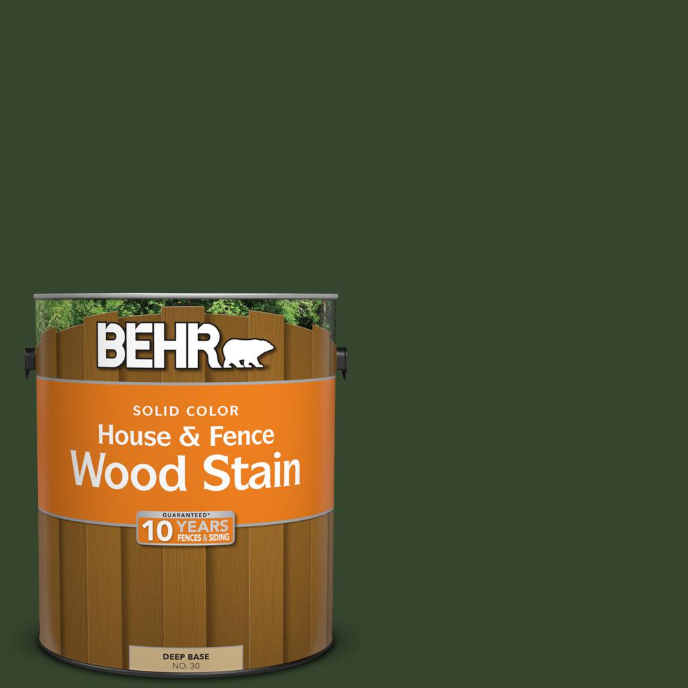 Exterior White Stain For Wood: BEHR 1 Gal. #SC-120 Ponderosa Green Solid Color House And