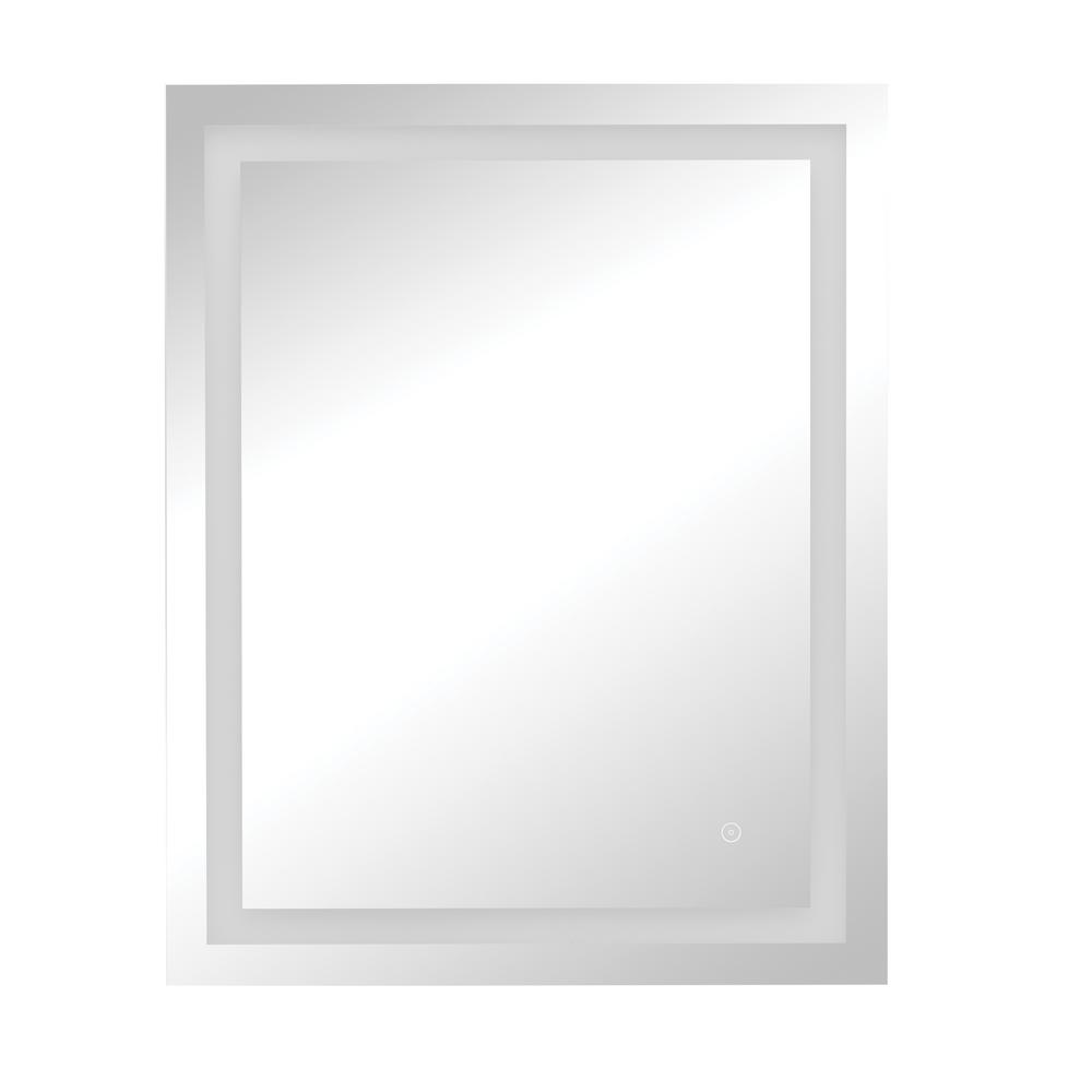 24 x 30 in. Frameless Dimmable LED Wall Mirror with Anti-Fog Glass
