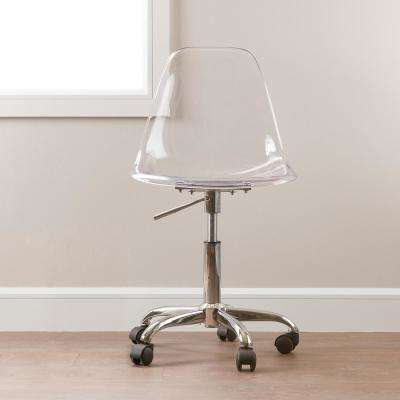 Annexe Clear Office Chair with Wheels
