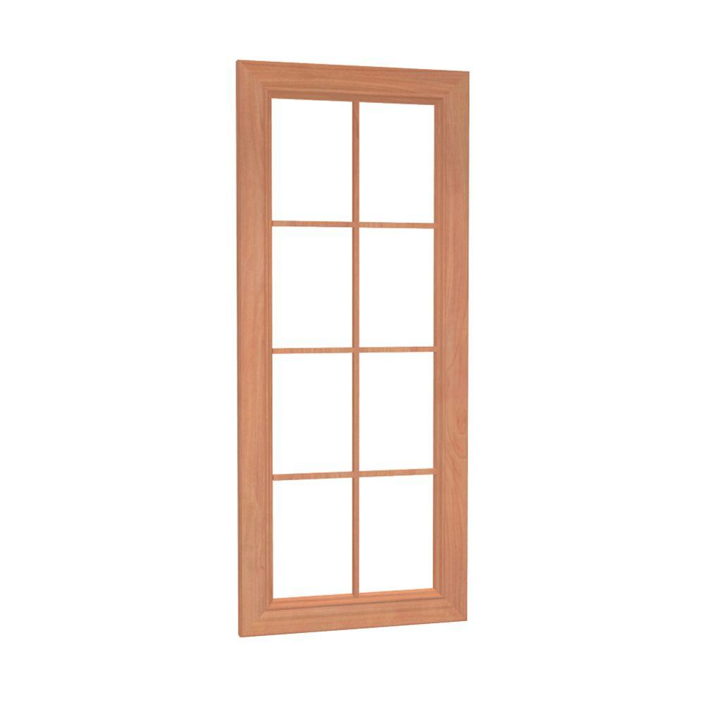 Home Decorators Collection Dartmouth Assembled 12 x 36 x 0.75 in. Wall Mullion Door in Cinnamon
