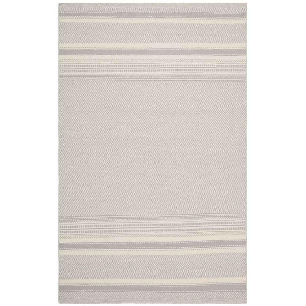Safavieh Kilim Grey/Ivory 5 ft. x 8 ft. Area Rug, Gray/Ivory