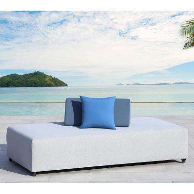 Douville Light Gray Aluminum Outdoor Day Bed