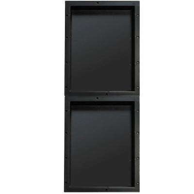 16 in. x 20 in. Double Niche Set in Black