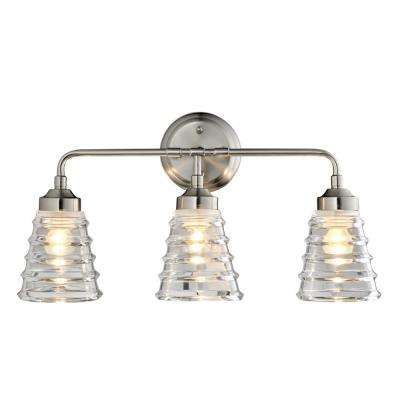 Amherst 3-Light Brushed Nickel Bath Light