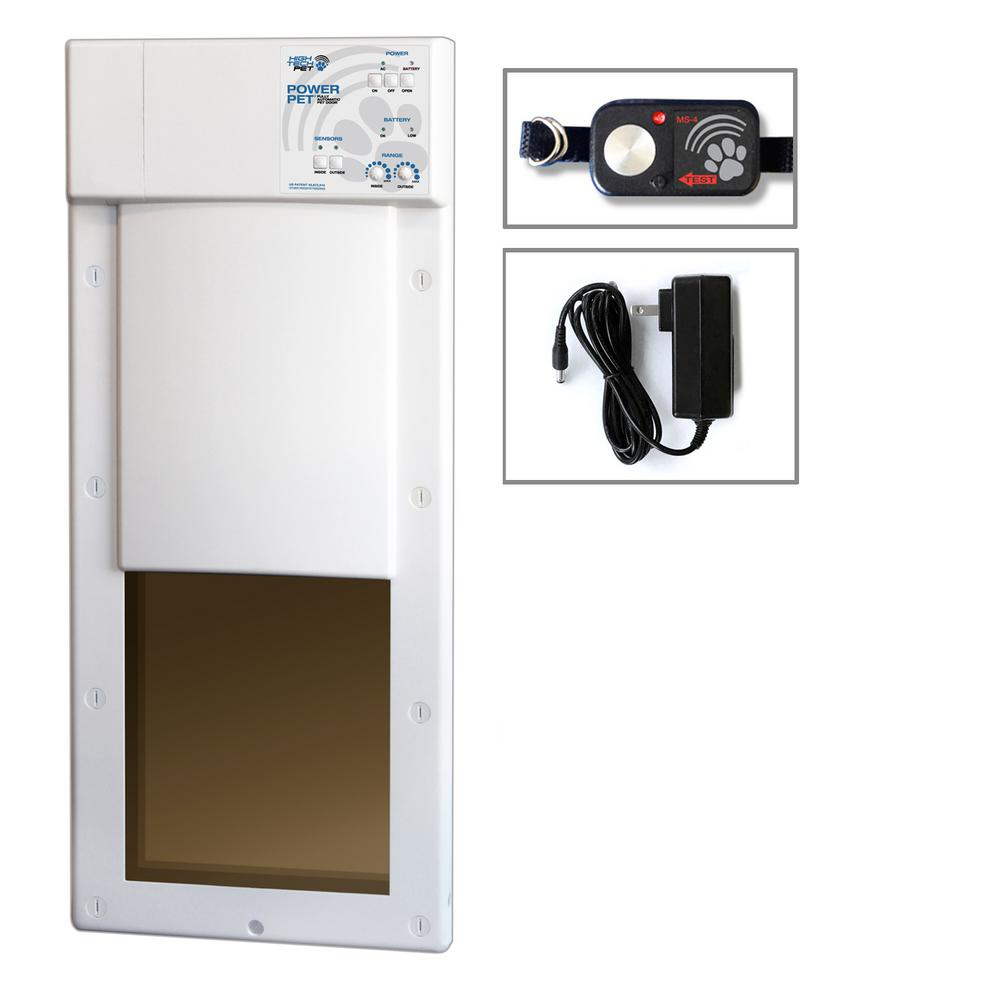 High Tech Pet 12 In X 16 In Power Pet Large Electronic Fully Automatic Dog And Cat Electric Pet Door For Pets Up To 100 Lb