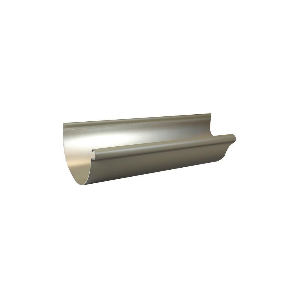 Spectra Metals 6 in  x 10 ft  Half Round Terratone Aluminum Gutter