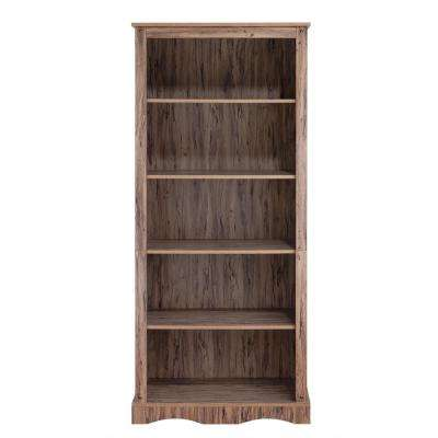 Wren Maple Veneer Simplicity Bookcase with 5-Shelves
