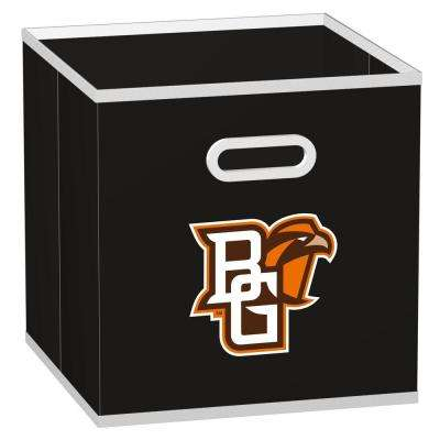 College STOREITS Bowling Green State University 10-1/2 in. W x 10-1/2 in. H x 11 in. D Black Fabric Storage Bin