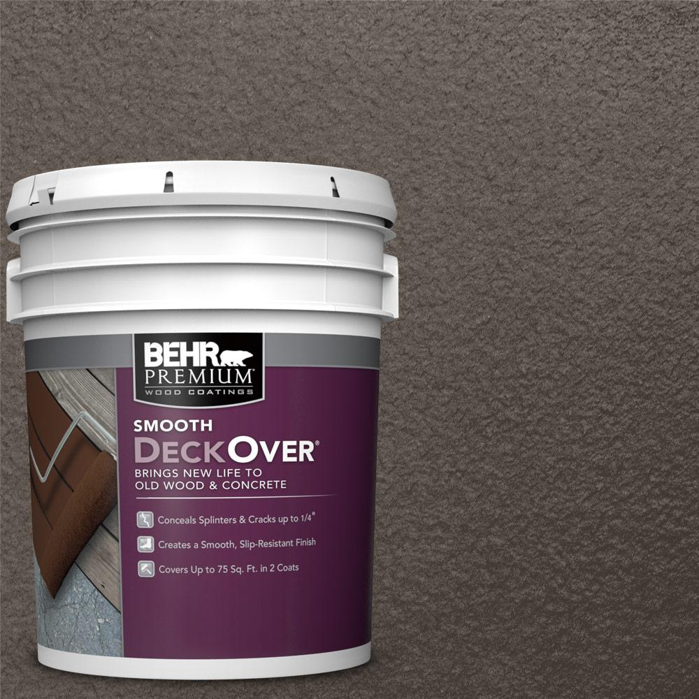behr premium deckover 5 gal sc 103 coffee solid color exterior wood and concrete coating. Black Bedroom Furniture Sets. Home Design Ideas