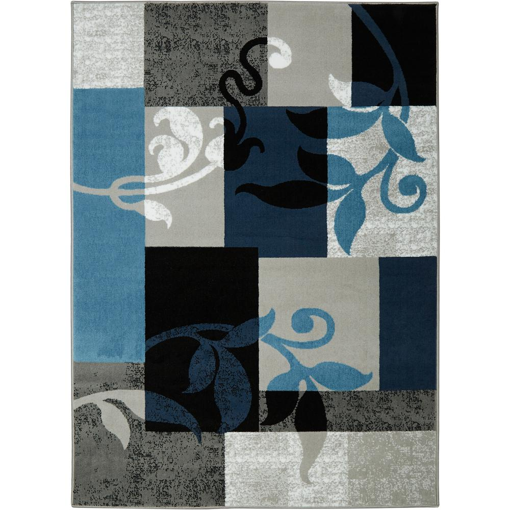 Home Dynamix Home Dynamix Tremont Blue 5 ft. 2 in. x 7 ft. 2 in. Indoor Area Rug
