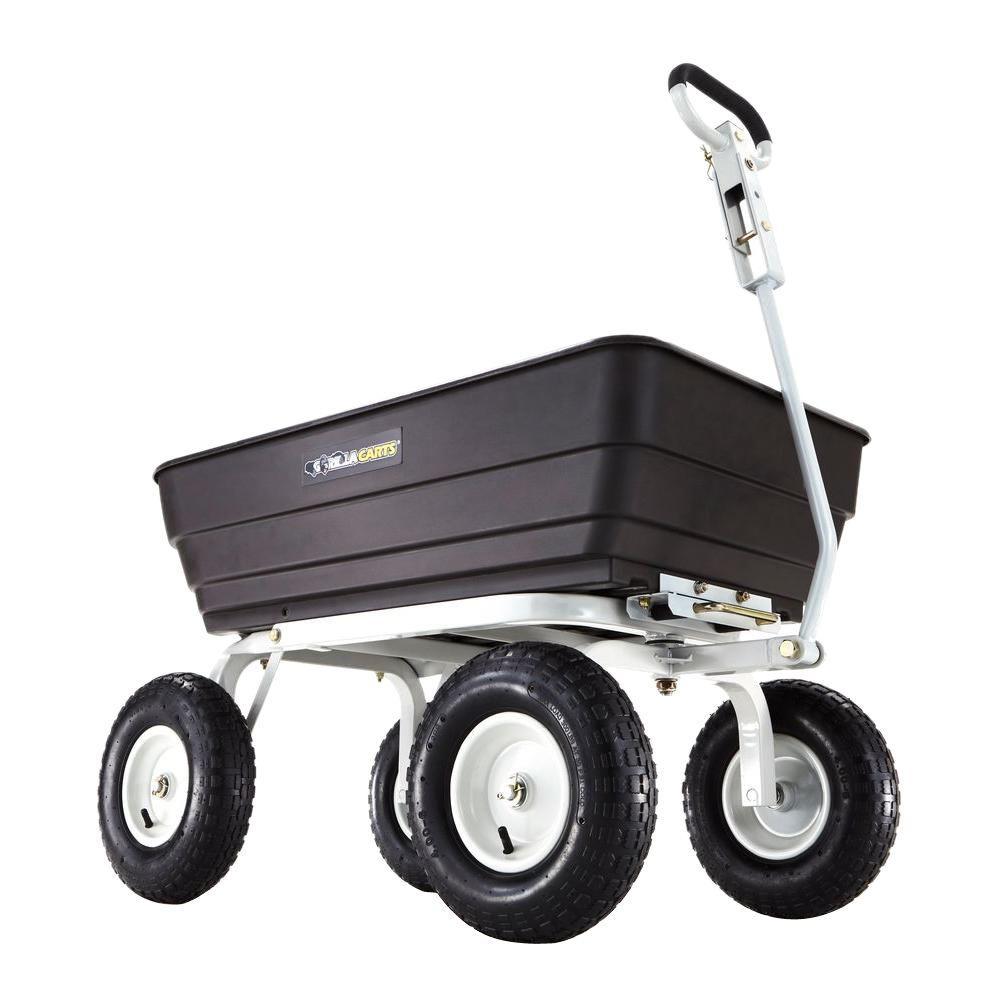 1,000 lb. Heavy-Duty Poly Dump Cart