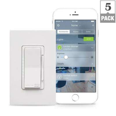 Decora Smart 600-Watt with HomeKit Technology Dimmer, Works with Siri (5-Pack)