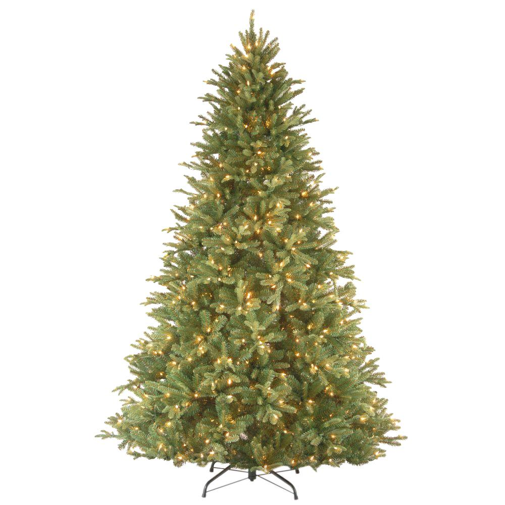 National tree company 7 5 ft tiffany fir artificial for Lit national