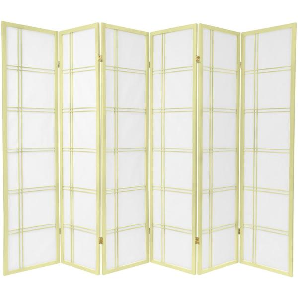 6 ft. Ivory Double Cross 6-Panel Room Divider