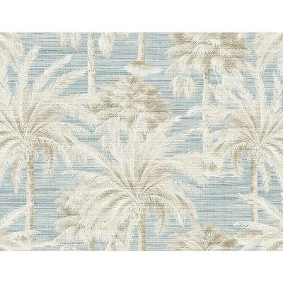 Dream Of Palm Trees Blue Texture Wallpaper