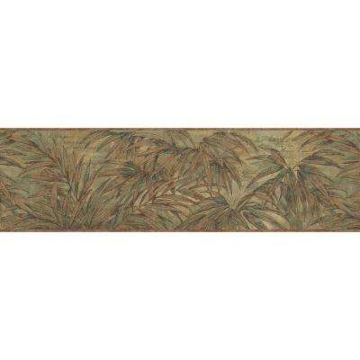 Copper Wild Fern Wallpaper Border Sample