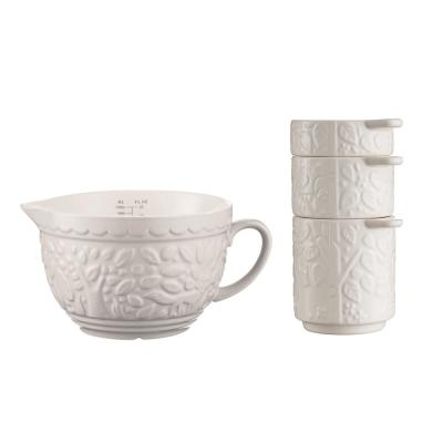 In the Forest 3-Piece Cream Measuring Cups and Jug Set