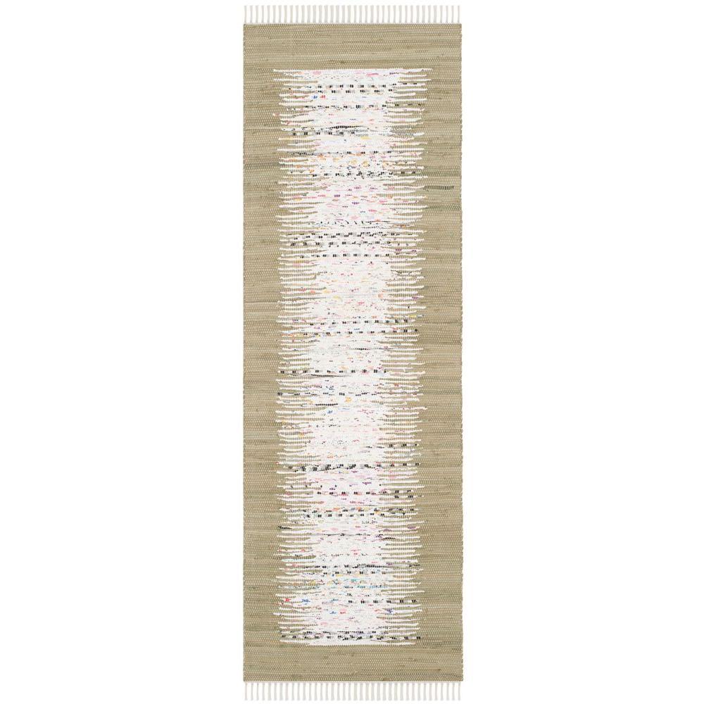 Safavieh Montauk Ivory/Olive 2 ft. 3 in. x 9 ft. Runner