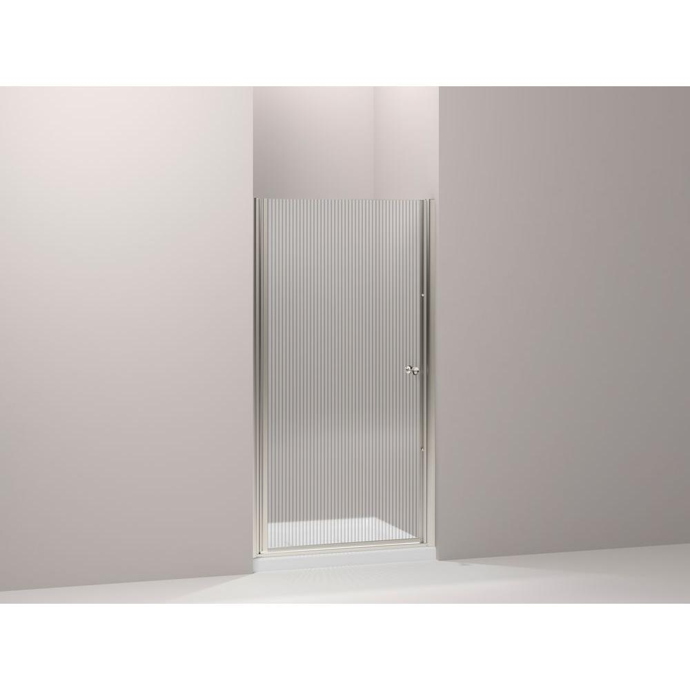 Fluence 30-1/4 in. x 65-1/2 in. Frameless Pivot Shower Door in