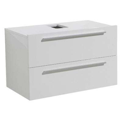 Medio 32 in. Bathroom Vanity Cabinet Only in White