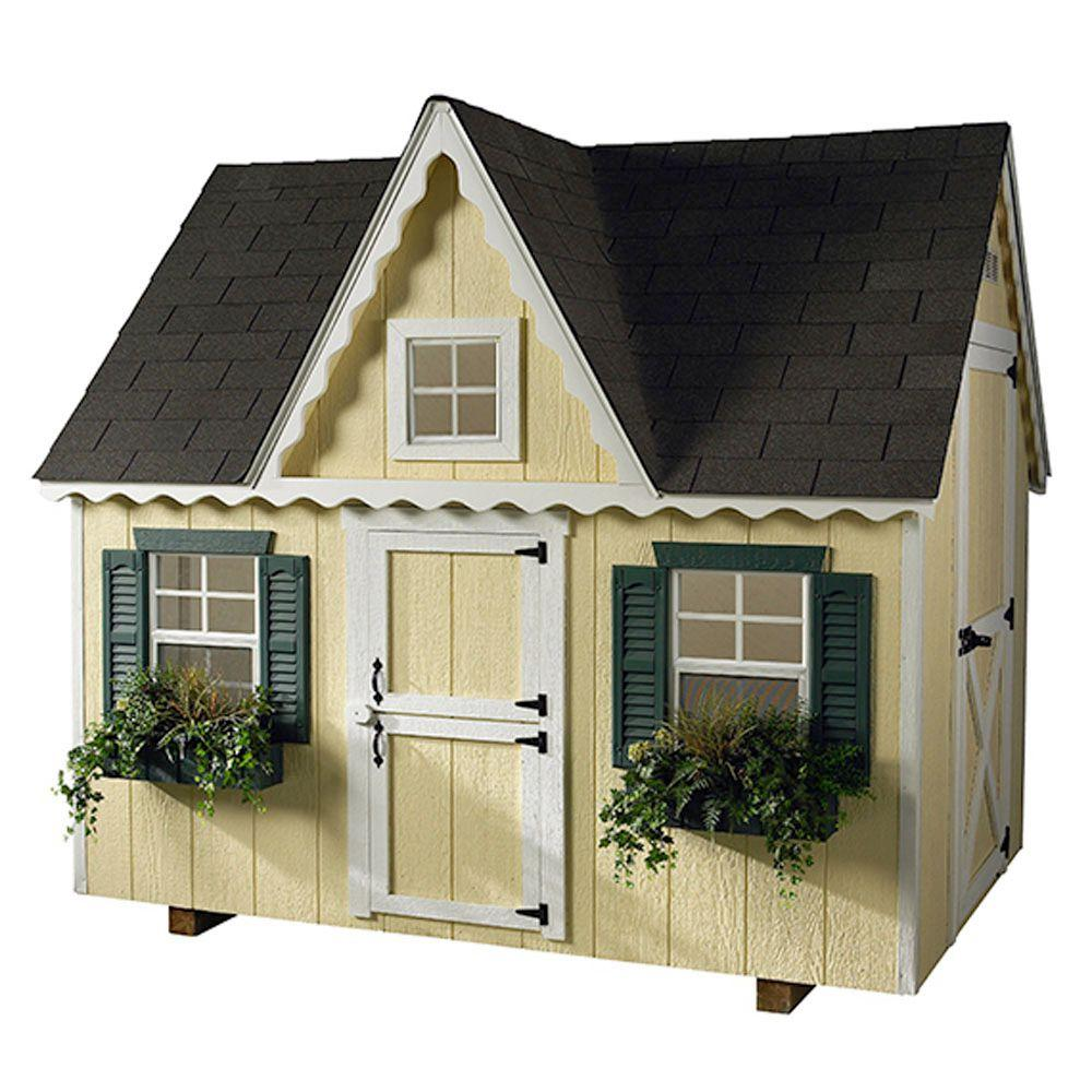 HomePlace Structures 6 ft. x 8 ft. Standard Victorian Playhouse