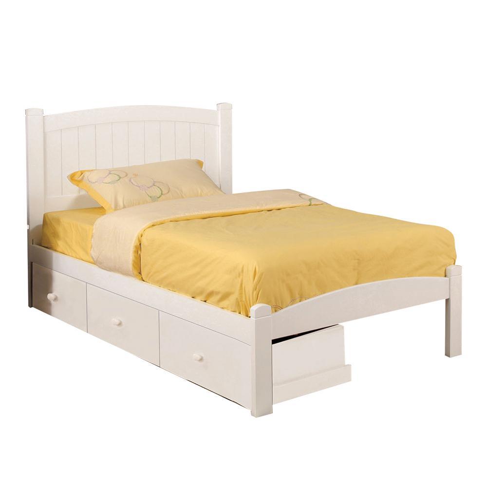 Caren Full Bed in White