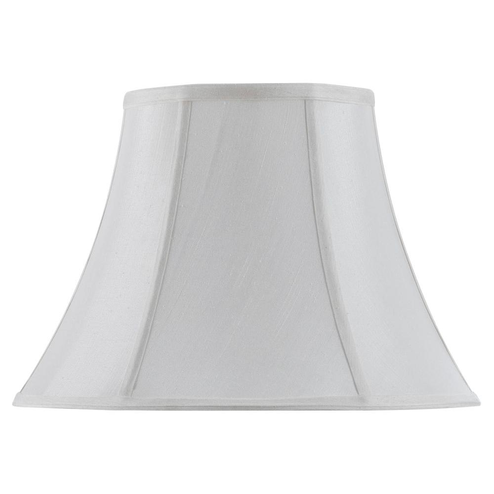 CAL Lighting 14 in. White Vertical Piped Basic Bell Shade