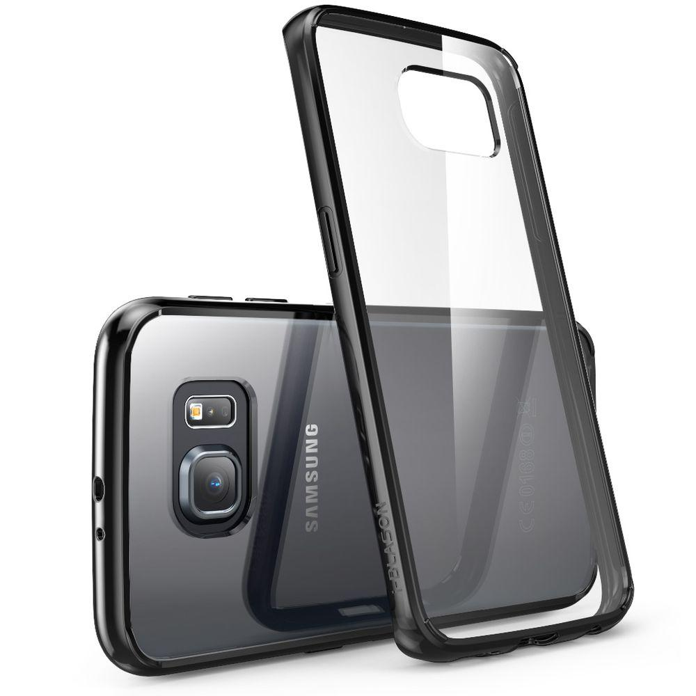 meet e0a09 913d7 i-Blason Halo Scratch Resistant Case for Samsung Galaxy S6 Edge, Clear/Black