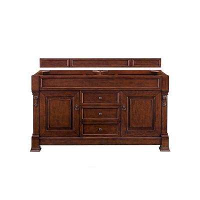 Brookfield 60 in. W Bathroom Double Vanity Cabinet Only in Warm Cherry
