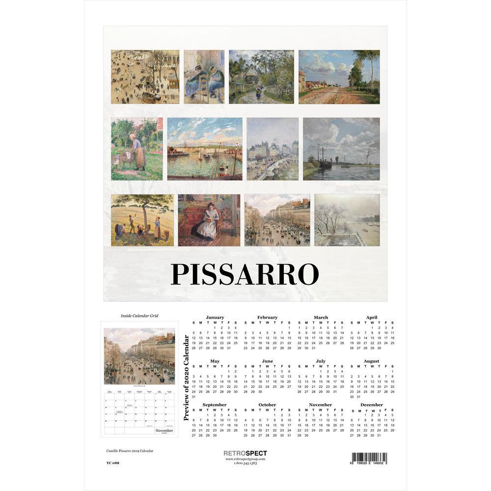 19 in. H x 12.5 in. W Camille Pissarro - 2019 Calendar