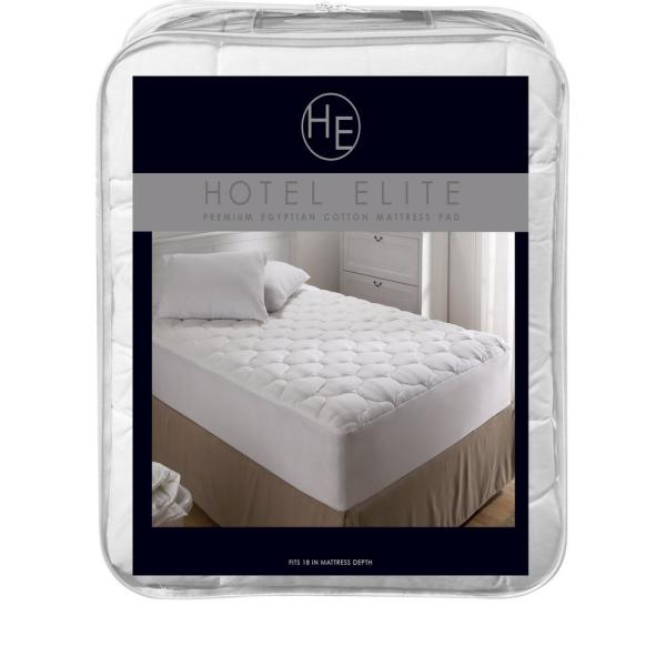 Home Mattress Pad 21 Inch Deep Pocket Egyptian Cotton White Striped All Size