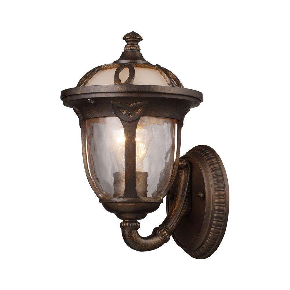 Titan Lighting Wall Mount 1-Light Outdoor Hazelnut Bronze Sconce -DISCONTINUED