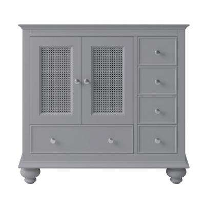 Aerin 33.78 in. W x 20.94 in. D x 32.68 in. H Bath Vanity Cabinet Only in Taupe Grey