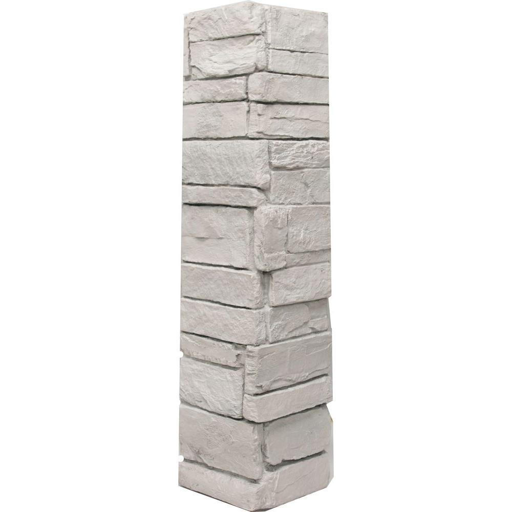 Urestone Ledgestone Keyless Corner #50 Antique White 6.3 sq. ft. Stone Veneer (2-Pack)