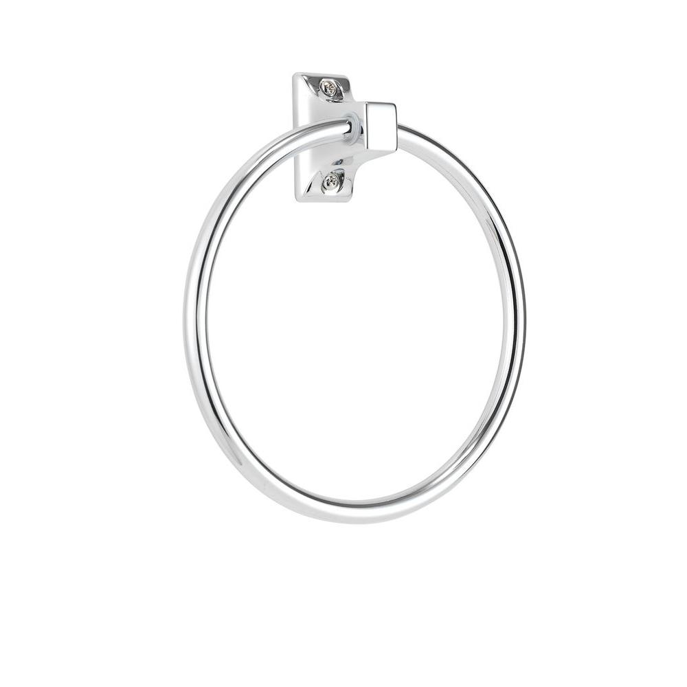Croydex Sutton Towel Ring in Chrome