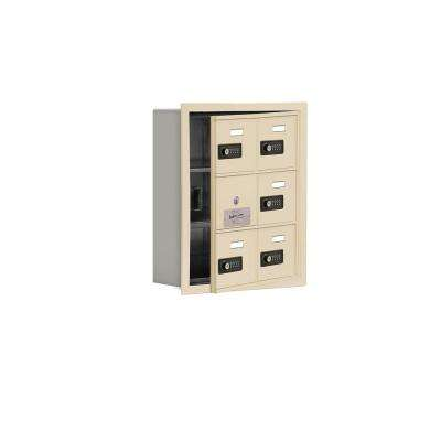 19100 Series 16.25 in. W x 18.75 in. H x 5.75 in. D 5 Doors Cell Phone Locker R-Mount Resettable Locks in Sandstone