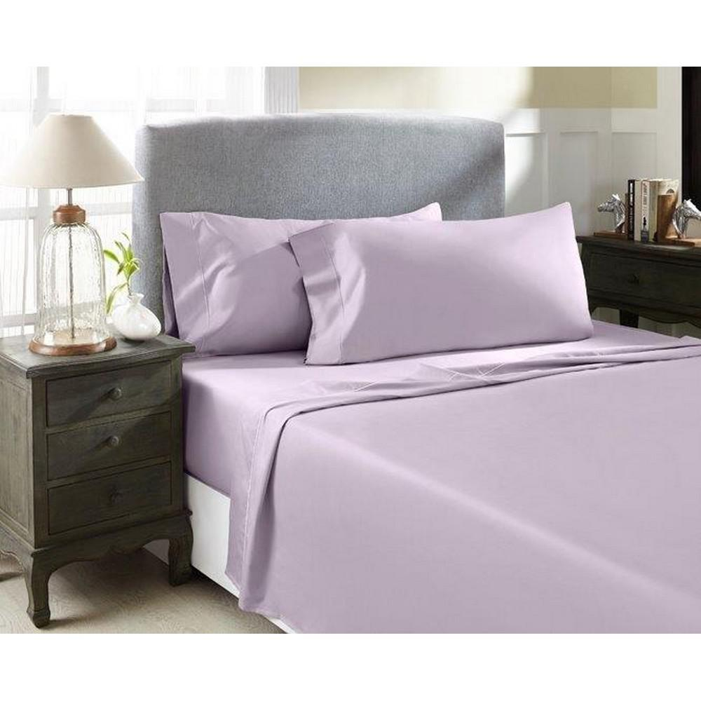 Perthshire Lavender T1000 Solid Combed Cotton Sateen California King