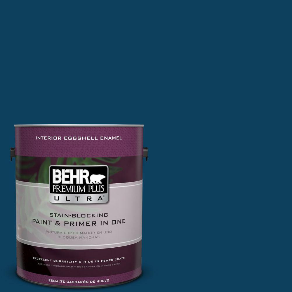 BEHR Premium Plus Ultra 1-gal. #ECC-53-3 Outer Space Eggshell Enamel Interior Paint