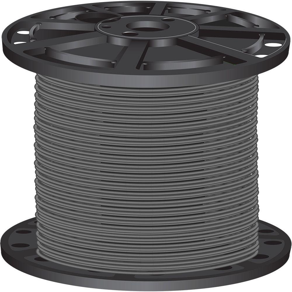 Southwire 2,500 ft. 10 Gray Solid CU THHN Wire-22982305 - The Home ...