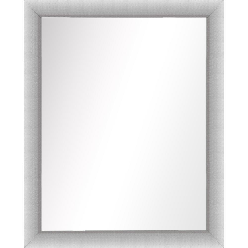 PTM Images 31.5 in. x 25.5 in. Stainless Silver Framed Mirror-5 ...