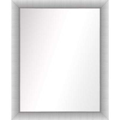 31.5 in. x 25.5 in. Stainless Silver Framed Mirror