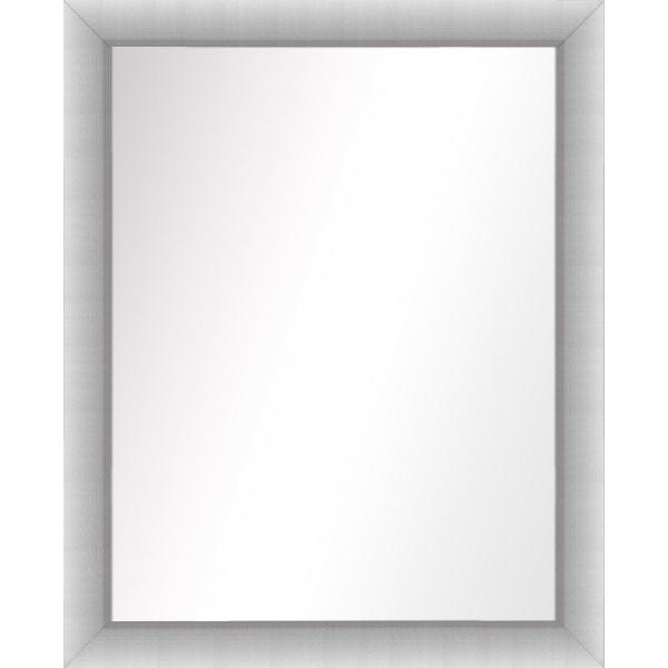 Medium Rectangle Stainless Silver Art Deco Mirror (31.5 in. H x 25.5 in. W)