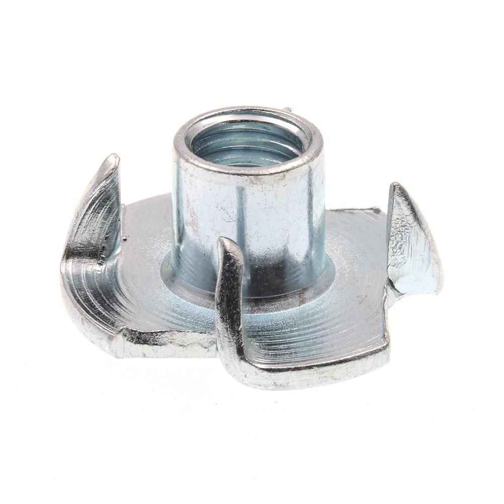 4-Prong Metric Pack of 10 4 M10-1.50 Prime-Line 9078904 T-Nut Zinc Plated Steel