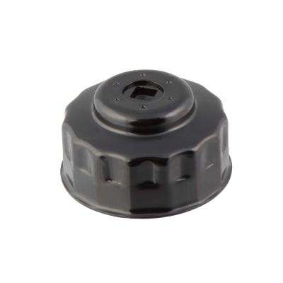 75/77 mm x 15 Flute Oil Filter Cap Wrench in Black