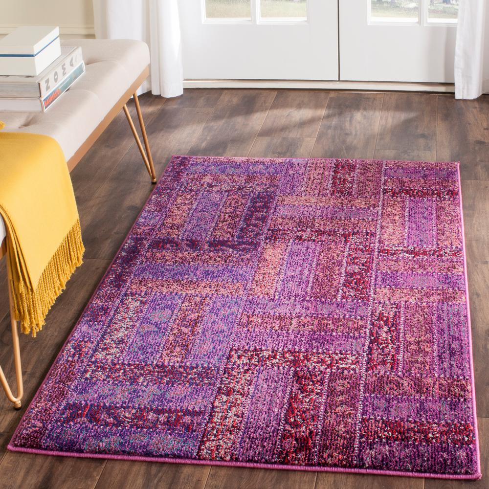 Walmart Purple Rug: Safavieh Monaco Purple/Multi 3 Ft. X 5 Ft. Area Rug-MNC214L-3
