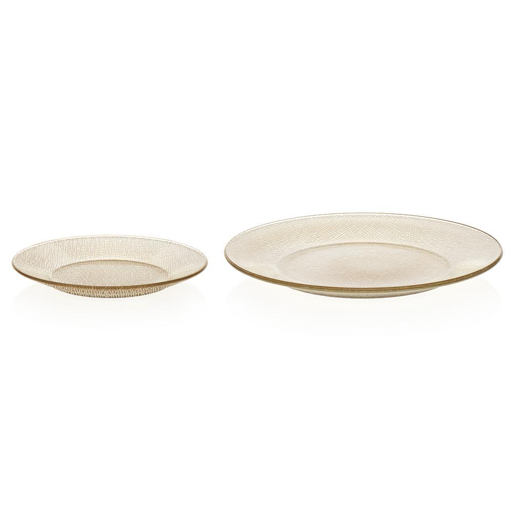 Libbey Yute 12-piece Gold Glass Dinnerware Set 99088/Y1260